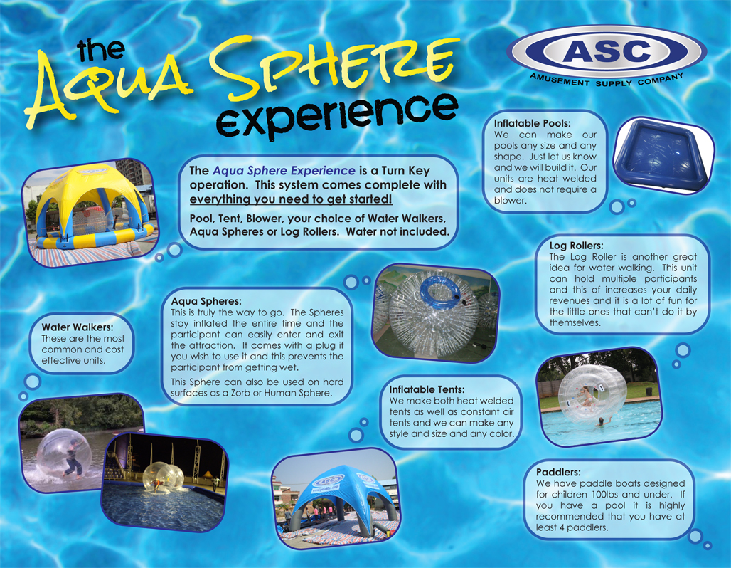 The Aqua Sphere Experience. Contact ASC today for more information!